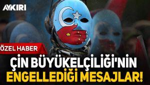 Uygur Türklerinden Çin Büyükelçiliğine tepki!