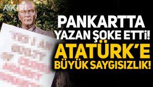 Atatürk'e çirkin saldırı!