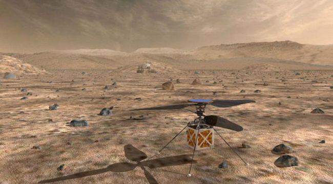 Mars'ta helikopter uçacak!