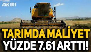Tarımda maliyet yüzde 7.61 arttı!