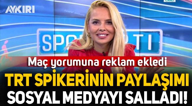 TRT spikeri Deniz Satar sosyal medyanın gündemine oturdu