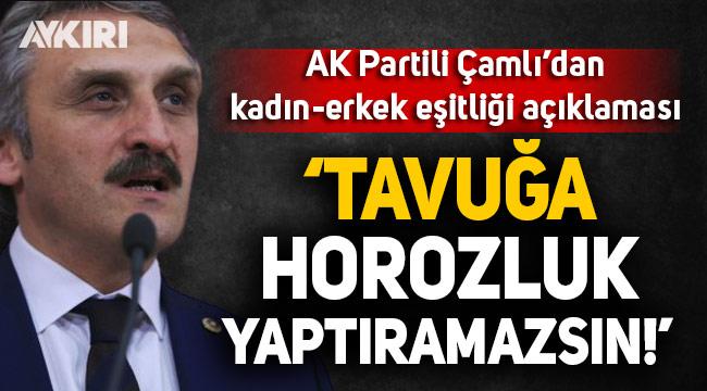 AK Partili Çamlı'dan skandal kadın-erkek eşitliği açıklaması