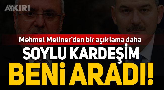AKP'li Metiner'den tartışmayla ilgili yeni açıklama
