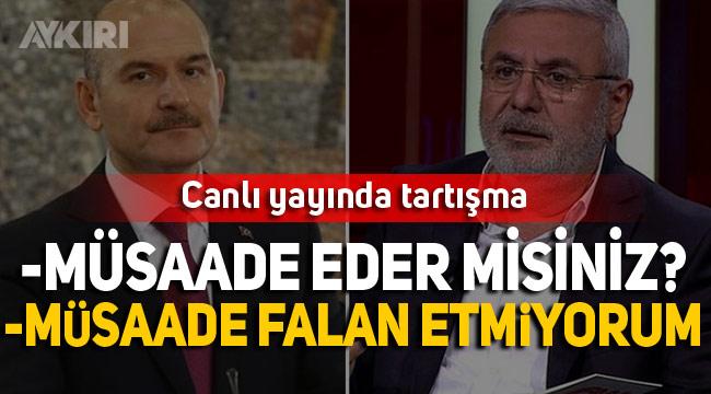 Bakan Soylu ve Mehmet Metiner arasında canlı yayında tartışma çıktı