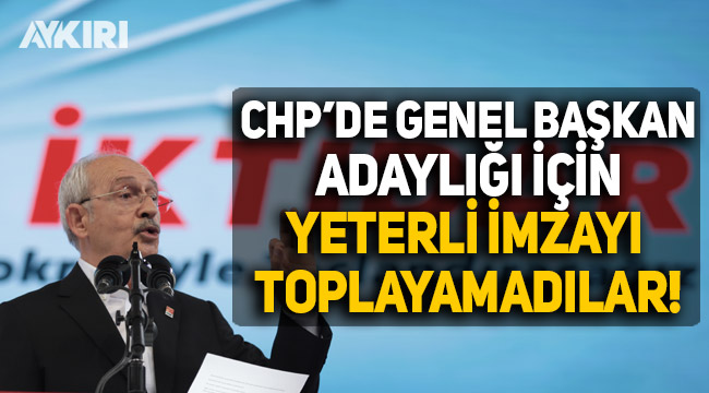 CHP Kurultayı'nda tek aday Kılıçdaroğlu