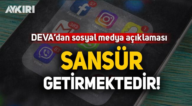 DEVA Partisi'ndan sosyal medya açıklaması