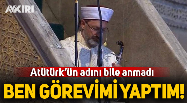 Diyanet İşleri Başkanı Erbaş'tan hutbe açıklaması
