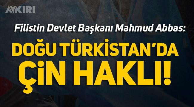 Filistin'den, Doğu Türkistan'daki zulme destek!