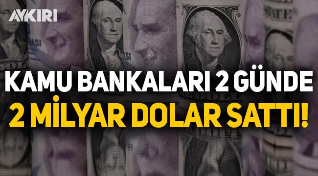 Kamu bankaları 2 günde 2 milyar dolar sattı
