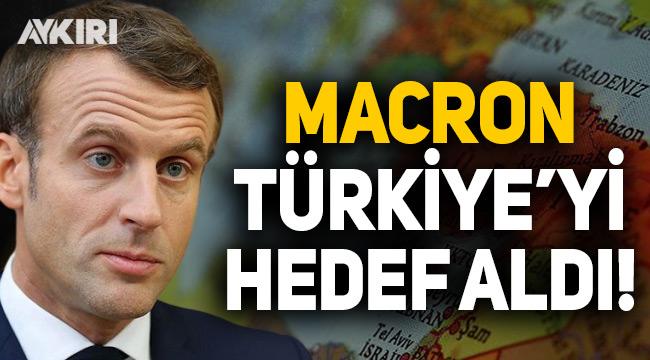 Macron 'Doğu Akdeniz' üzerinden Türkiye'yi hedef aldı!