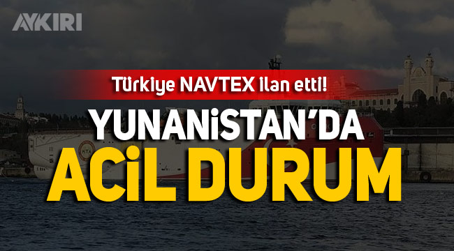 Türkiye NAVTEX ilan etti!