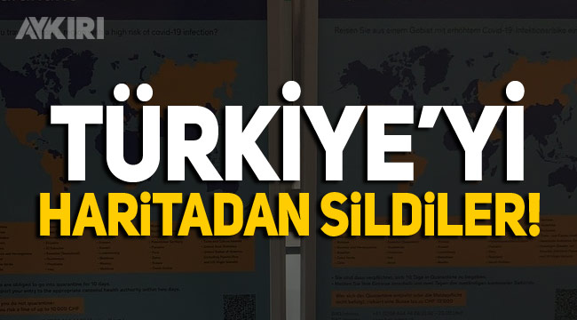 Zürih Havaalanı'ndaki afişlerde Türkiye'yi haritadan sildiler