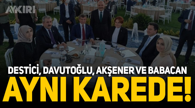 4 partinin genel başkanı o düğünde buluştu