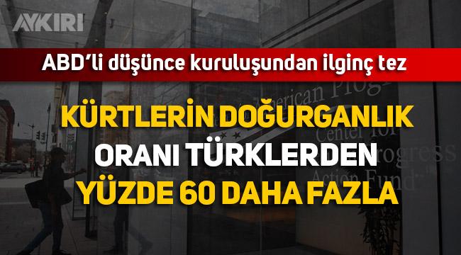 """ABD Düşünce Kuruluşu yayımladı """"Kürtlerin doğurganlığı Türklerden daha fazla, siyasetteki güçleri artacak"""""""