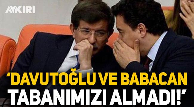 AK Parti, 'Babacan ve Davutoğlu oyları bölebilir mi?' sorusuna cevap verdi