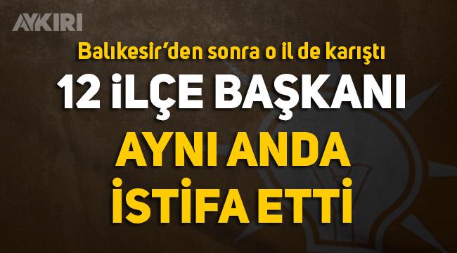 AK Parti Diyarbakır'da deprem, 12 ilçe başkanı istifa etti