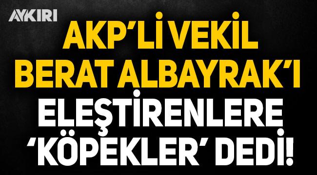 AK Partili vekil Berat Albayarak'ı eleştirenlere 'köpekler' dedi