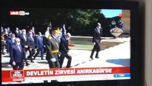 Akit TV'den Anıtkabir'e büyük saygısızlık!