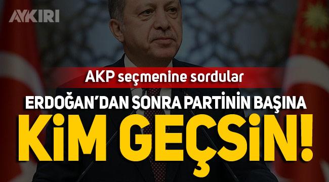 """AKP seçmenine """"partinin başına kim geçsin?"""" sorusu"""