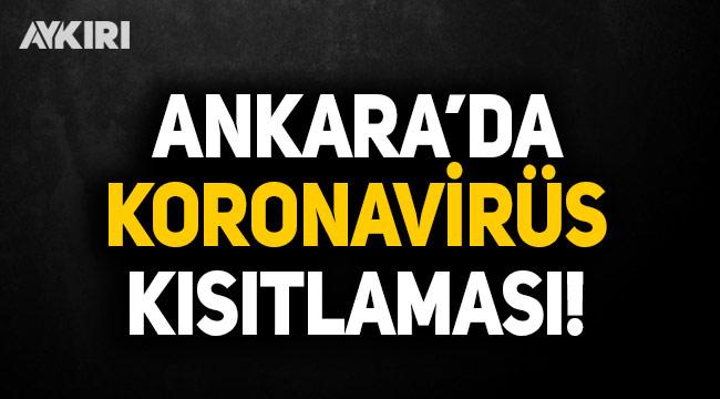 Ankara Valiliği yeni koronavirüs önlemlerini duyurdu