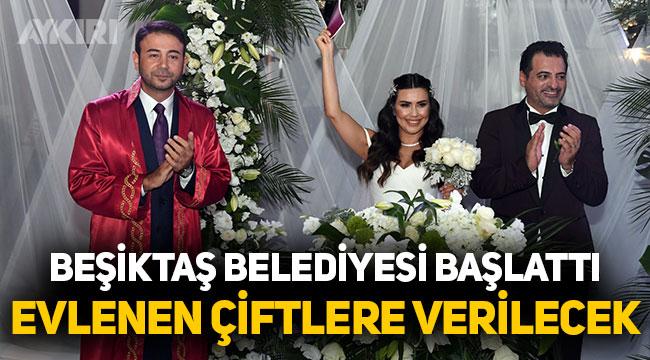 Beşiktaş Belediyesi yeni evlenen çiftlere İstanbul sözleşmesi kartı veriyor