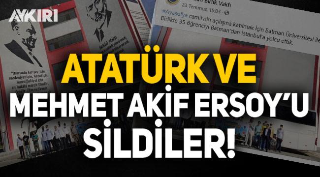 Birlik Vakfı, Atatürk ve Mehmet Akif Ersoy'un fotoğraflarını photoshop ile sildi