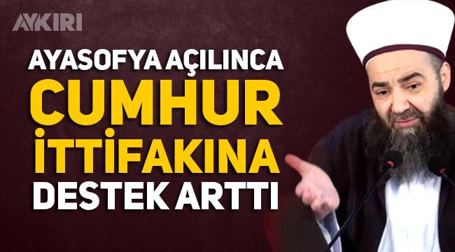 """Cübbeli Ahmet: """"Ayasofya'nın açılması Cumhur İttifakı'na desteği tekrar artırdı"""""""