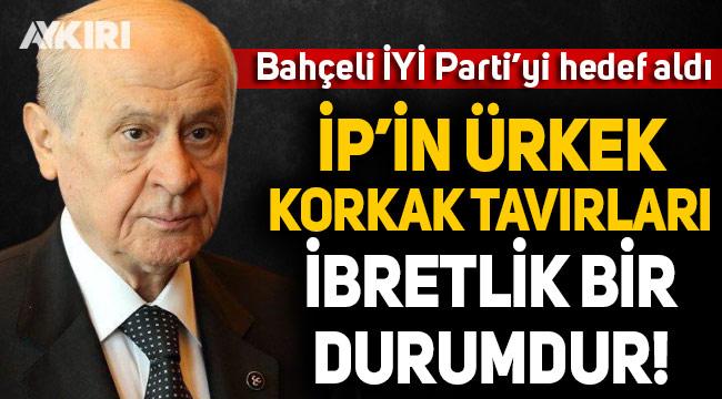 Devlet Bahçeli, 'evine dön' dediği İYİ Parti'yi hedef aldı