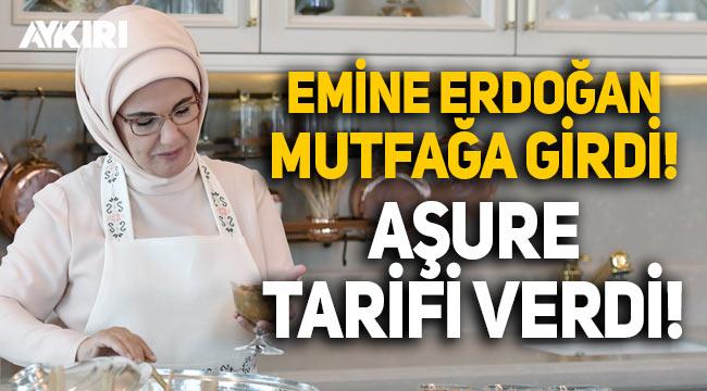 Emine Erdoğan mutfağa girdi, aşure tarifi verdi