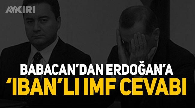 Erdoğan'ın IMF sözlerine Babacan'dan IBAN'lı cevap