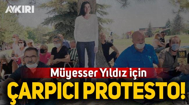 Gazeteci Müyesser Yıldız için protesto