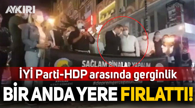 İYİ Partili başkan, HDP'li başkanın konuşmasına böyle tepki gösterdi