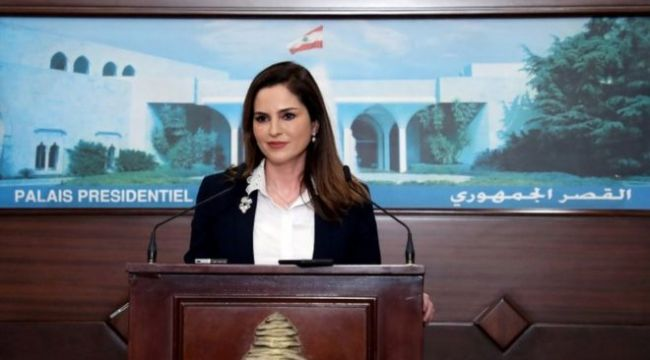 Lübnan'da Bakan Menal Abdussamed, halktan özür diledi ve istifa etti