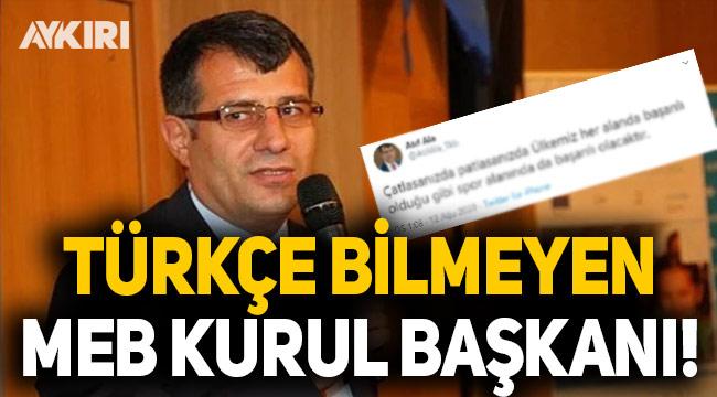 MEB'in 'Teftiş Kurulu Başkanı'nın Türkçesine tepki