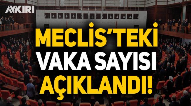 Meclis'teki vaka sayısı açıklandı