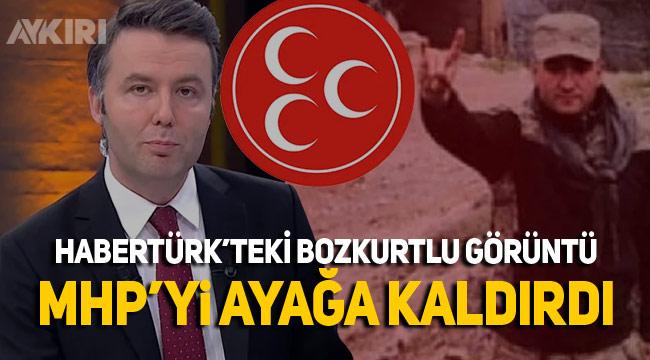 HaberTürk cinayet zanlısının bozkurtlu fotoğrafını kullanınca MHP'den tepki geldi