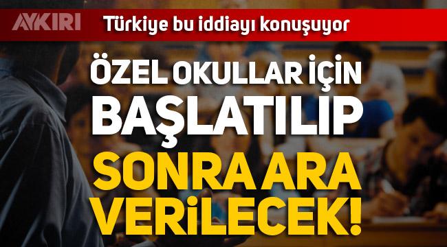 Okullar açılacak mı...Lütfü Türkkan'dan çarpıcı özel okul iddiası