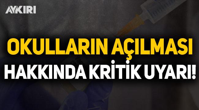 Prof. Dr. Mehmet Ceyhan'dan okulların açılmasıyla ilgili kritik uyarı