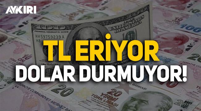 Türk Lirası eriyor, Dolar durmuyor