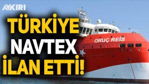 Türkiye NAVTEX ilan etti