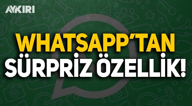 WhatsApp'tan sürpriz özellikler