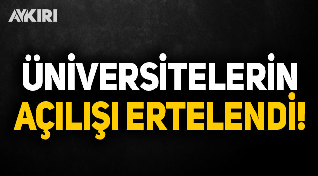 YÖK'den akademik takvim açıklaması: Üniversiteler 1 Ekim'e ertelendi