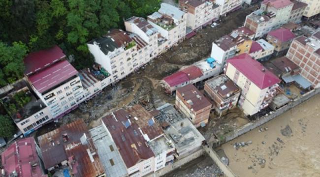 AFAD'dan sel felaketinin yaşandığı Giresun için kuvvetli yağış uyarısı