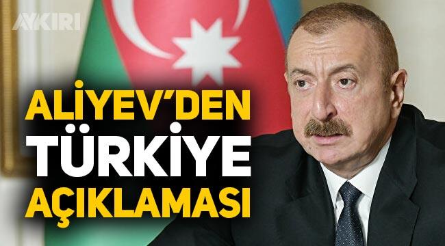 """Aliyev: """"Ermenistan ile aramızda yaşananlarda Türkiye taraf değil"""""""
