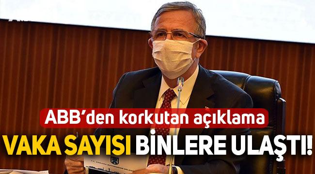 Ankara Büyükşehir Belediyesi'ndeki koronavirüs vakalarında korkutan artış!