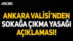 Ankara Valisi'nden