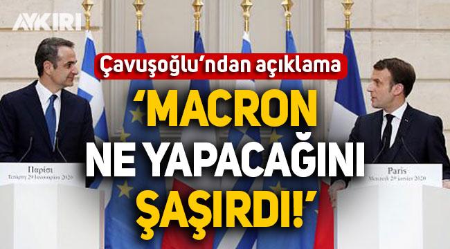 Çavuşoğlu'ndan kritik Doğu Akdeniz açıklaması: Macron ne yapacağını şaşırdı