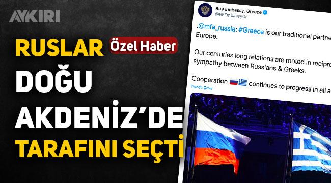 Doğu Akdeniz'de Rusya tarafını seçti, Rus ve Yunan bayrağını paylaştılar