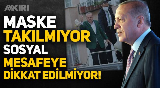 """Erdoğan'dan vatandaşlara koronavirüs eleştirisi: """"Maske takılmıyor, sosyal mesafeye uyulmuyor"""""""