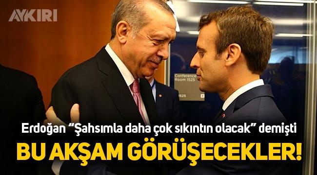 Erdoğan, Macron ile görüşecek